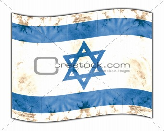 aged national flag of israel - computer illustration