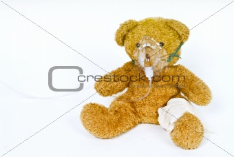 wounded teddy