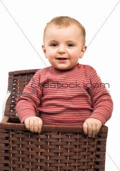 boy in basket