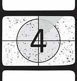 Film countdown at number 4