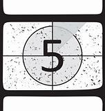 Film countdown at number 5