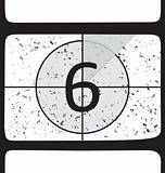 Film countdown at number 6