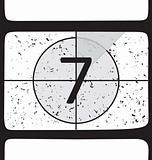 Film countdown at number 7