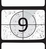 Film countdown at number 9