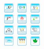 floor coverings properties icon-set