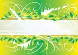 green floral grunge