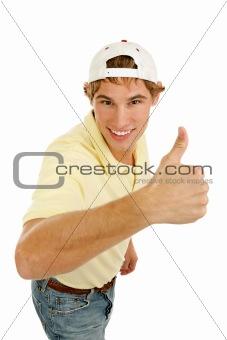 Casual Young Man Thumbsup