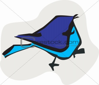 A silhouette of bird