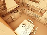 illustration of kitchen