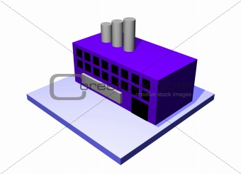 Factory a Logistics Supply Chain Diagram Object