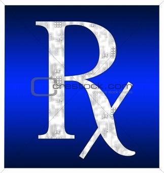 Blue RX symbol