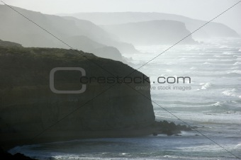 A rugged coastline