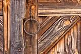 Detail of rustic door