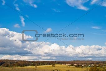 autumn landscape - village