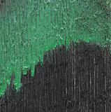Green painted wooden plank