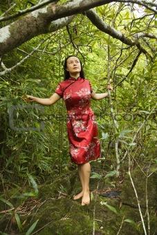 Portrait of asian woman.