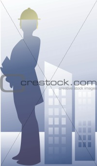 an engineer standing