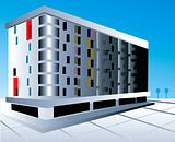 multi storey building with floor