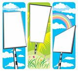 blank signboards design