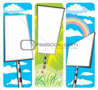 blank signboards design