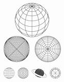 round shape globe design