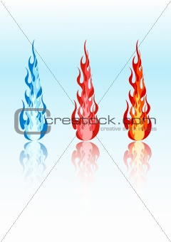 Vector colored flames