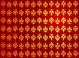 Golden red royal pattern