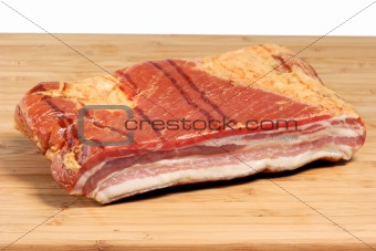 Bacon on a kitchen Board