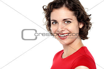 Portrait of an attractive smiling female model