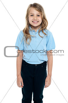 Cute young caucasian child posing for a portrait