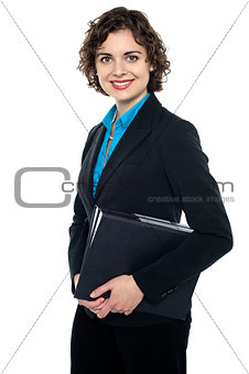 Corporate lady ready to attend annual business meet