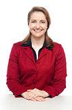 Confident business executive flashing a smile