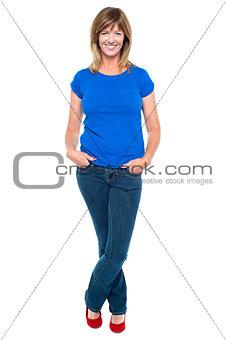 Beautiful lady striking a stylish pose
