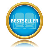 Blue gold best seller icon