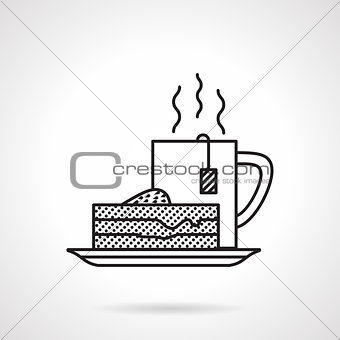Breakfast black line vector icon