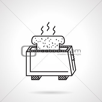 Toaster black line vector icon
