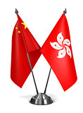Hong Kong and China - Miniature Flags.