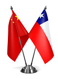 China and Chile - Miniature Flags.