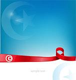 tunisia flag on background
