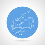 Round vector icon for snorkeling mask