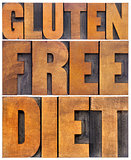 gluten free diet word abstract