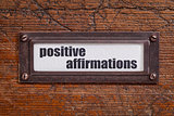 positive affirmations - file cabinet label
