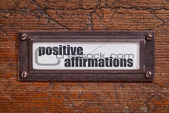 positive affirmations - file cabinet label
