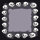 Cartoon Skulls Square Frame
