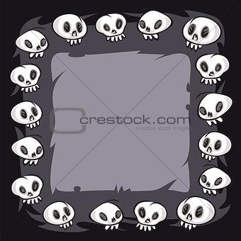 Cartoon Skulls Square Frame