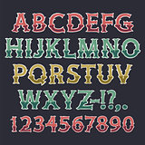 Halloween Colorful Bone Font