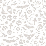 Halloween Symbols Seamless Pattern Light