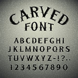 Font Carved in Stone