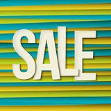 Sale typography background. Vector