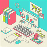 workspace concept vector.